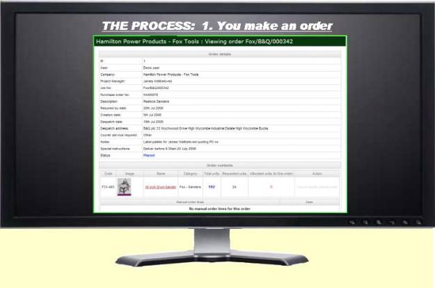 THE PROCESS: Ordering your goods...